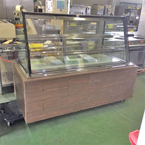 【中古】低温高湿冷蔵ケーキショーケース 大穂製作所 OHGE-ARB-1500 幅1580×奥行790×高さ1200 【送料無料】【業務用】【厨房機器】