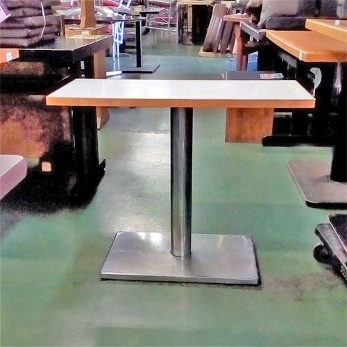 【中古】テーブル 木縁 白 幅800×奥行400×高さ630 【送料無料】【業務用】