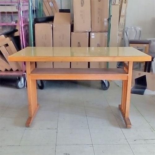 【中古】テーブル NA 木縁 幅1200×奥行750×高さ700 【送料別途見積】【業務用】