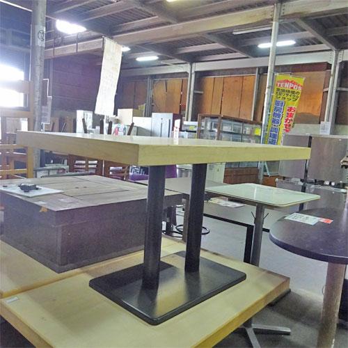 【中古】洋風テーブル 4人用 幅1200×奥行750×高さ690 【送料別途見積】【業務用】