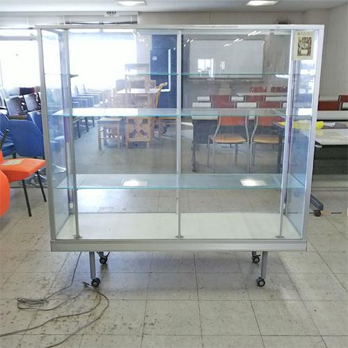 【中古】ガラスショーケース 幅1500×奥行450×高さ1540 50Hz専用【送料別途見積】【業務用】