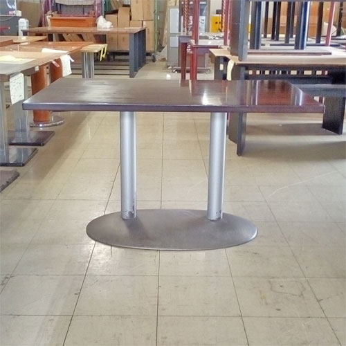 【中古】テーブル こげ茶 大 幅1200×奥行750×高さ700 【送料別途見積】【業務用】