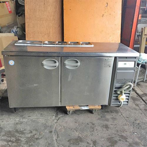 【中古】冷蔵サンドイッチコールドテーブル 福島工業(フクシマ) YRC-150RM2-R 幅1500×奥行600×高さ800 【送料無料】【業務用】
