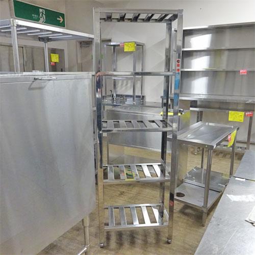 【中古】食器棚(パンラック) 幅600×奥行345×高さ1800 【送料別途見積】【業務用】