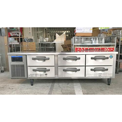 【中古】冷蔵ドロワーコールドテーブル ホシザキ RTL-165DNF 幅1650×奥行500×高さ570 【送料別途見積】【業務用】【厨房機器】