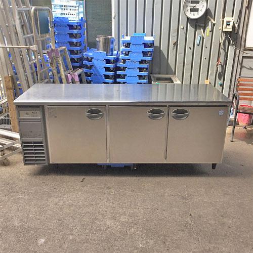 【中古】冷蔵コールドテーブル 福島工業(フクシマ) AYW-210RM 幅2100×奥行750×高さ800 【送料別途見積】【業務用】【厨房機器】