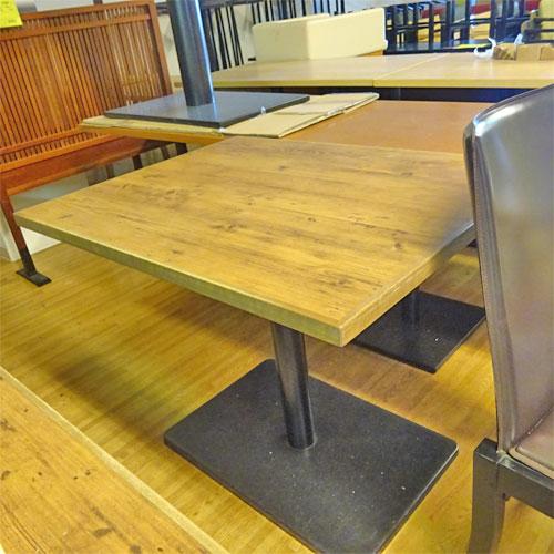 【中古】洋風テーブル 茶 幅900×奥行700×高さ720 【送料別途見積】【業務用】