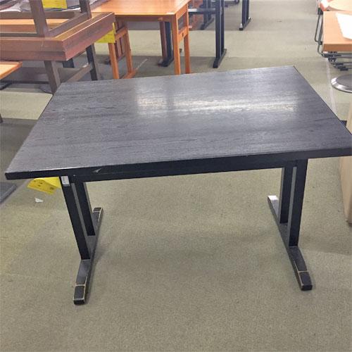 【中古】黒和風テーブル 幅1050×奥行750×高さ700 【送料別途見積】【業務用】