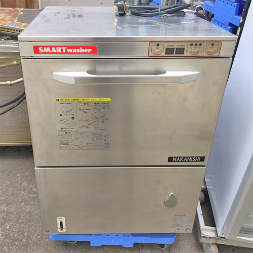 【中古】食器洗浄機 中西製作所 AU70-E03 幅600×奥行600×高さ850 三相200V 50Hz専用 【送料別途見積】【業務用】