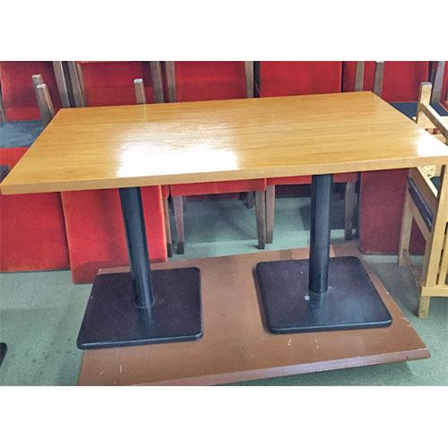 【中古】黄天板洋風テーブル 幅1250×奥行750×高さ720 【送料別途見積】【業務用】