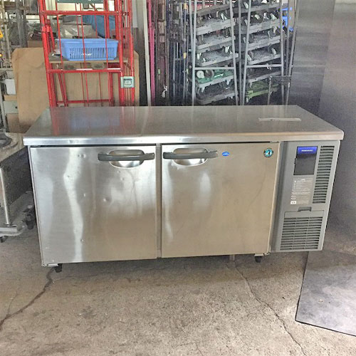 【中古】冷凍冷蔵コールドテーブル ホシザキ RFT-150SNF-R 幅1500×奥行600×高さ800 【送料別途見積】【業務用】
