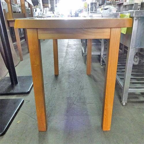 【中古】一枚板テーブル 幅1200×奥行600×高さ750 【送料別途見積】【業務用】