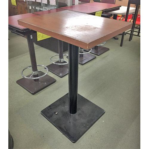 【中古】ハイテーブル ナチュラル 幅750×奥行600×高さ1100 【送料別途見積】【業務用】