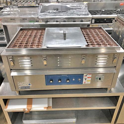 【中古】電気たこ焼き器 50穴3連 ニチワ電機 NI-150SP 幅920×奥行600×高さ400 三相200V 【送料別途見積】【業務用】【厨房機器】
