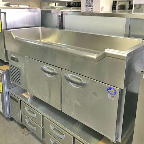 【中古】舟形シンク付きコールドテーブル パナソニック(Panasonic) SUR-GL156 幅1500×奥行600×高さ800 【送料無料】【業務用】【厨房機器】