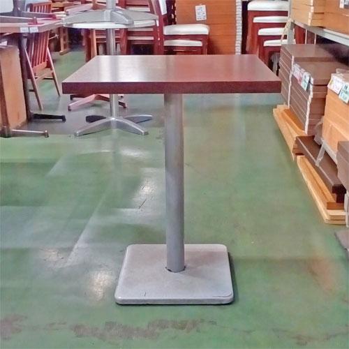 【中古】テーブル 茶 幅550×奥行550×高さ700 【送料無料】【業務用】