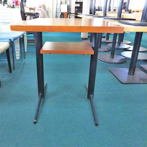 【中古】和風テーブル BR 棚付き 対立脚 黒 幅625×奥行750×高さ750 【送料無料】【業務用】