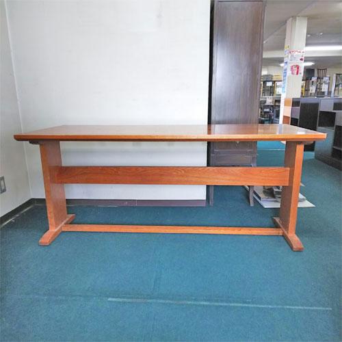【中古】和風テーブル 白木 幅1650×奥行650×高さ720 【送料別途見積】【業務用】