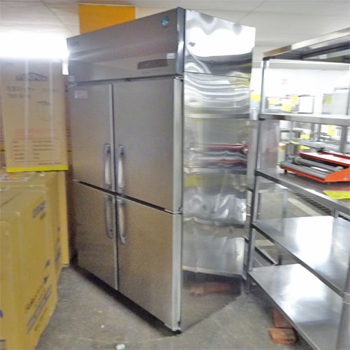 【中古】縦型冷凍冷蔵庫(2対2) ホシザキ HRF-120SFT3 幅1200×奥行650×高さ1900 三相200V 【送料別途見積】【業務用】【厨房機器】
