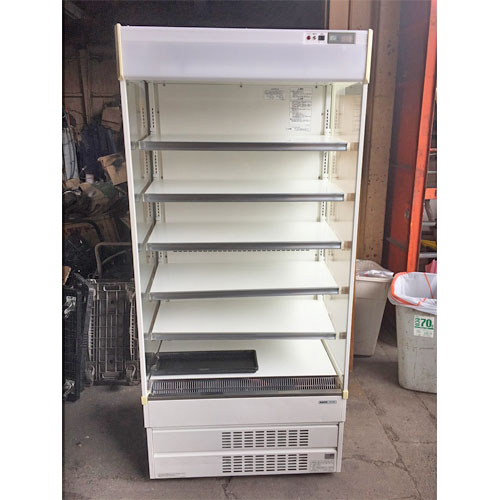 【中古】多段冷蔵オーブンショーケース サンヨー SAR-U390N 幅890×奥行650×高さ1900 三相200V 【送料別途見積】【業務用】