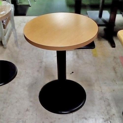 【中古】木目ナチュラル 丸テーブル 幅530×奥行530×高さ700 【送料無料】【業務用】