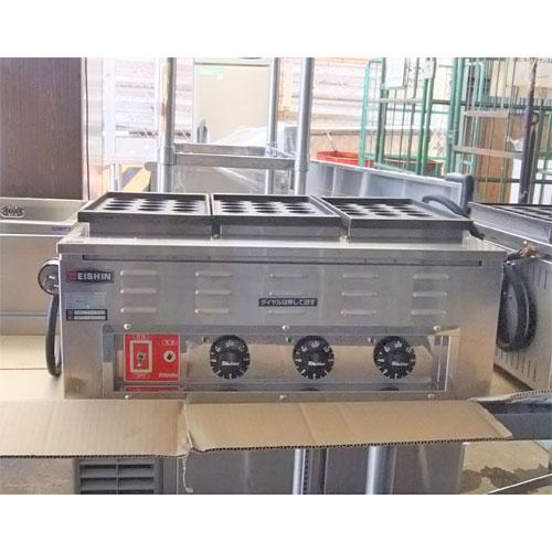【中古】たこ焼き器 エイシン TG-3 幅610×奥行450×高さ275 三相200V 【送料別途見積】【業務用】【厨房機器】