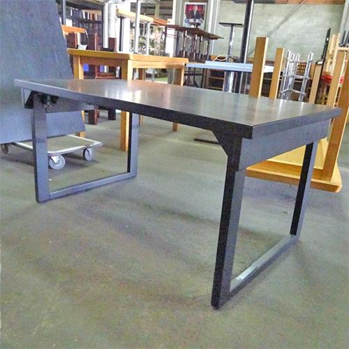 【中古】座敷用テーブル黒 幅1200×奥行750×高さ600 【送料別途見積】【業務用】