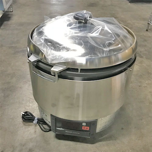 【中古】ガス炊飯器 リンナイ RR-30G2-HB 幅466×奥行436×高さ460 都市ガス 【送料別途見積】【未使用品】【業務用】【厨房機器】