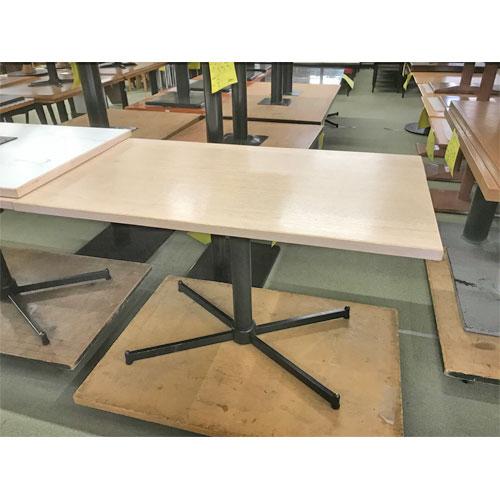 【中古】テーブル十字レッグ4人用 幅1200×奥行700×高さ720 【送料別途見積】【業務用】