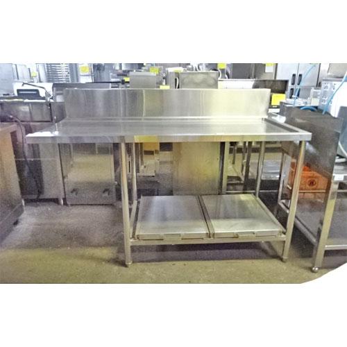 【中古】クリーンテーブル 幅1530×奥行705×高さ850 【送料別途見積】【業務用】
