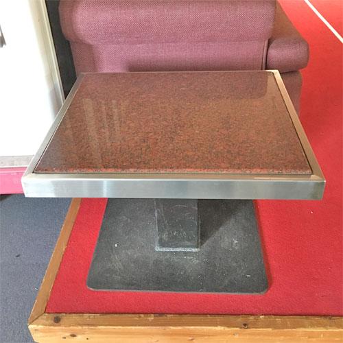 【中古】石テーブル 幅610×奥行510×高さ440 【送料無料】【業務用】