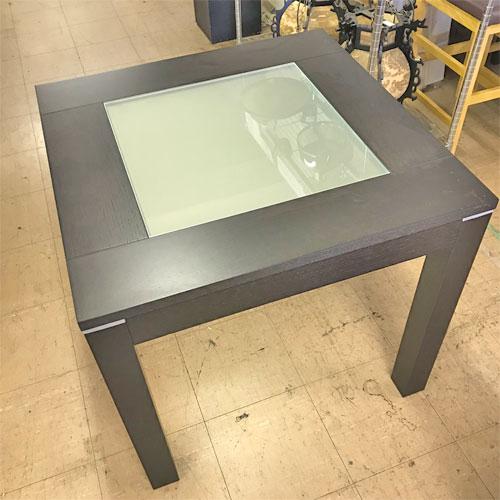 【中古】テーブル ポンド(ダークブラウン) アダル 幅800×奥行800×高さ720 【送料無料】【業務用】