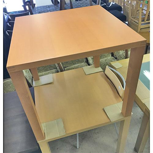【中古】エスト テーブル(ライトブラウン) アダル 幅800×奥行800×高さ720 【送料無料】【業務用】
