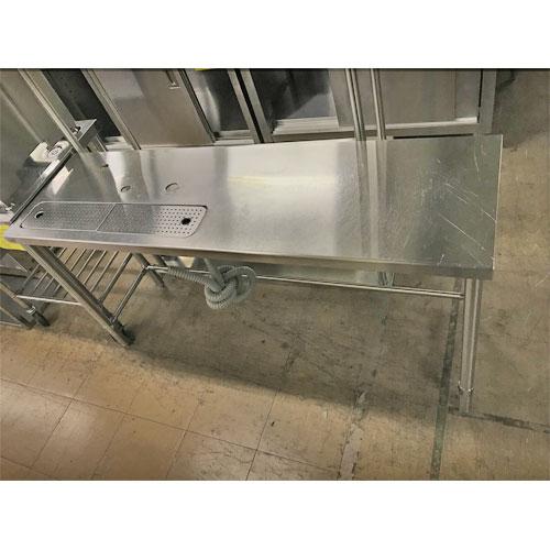 【中古】水切り台 マルゼン 幅1520×奥行450×高さ780 【送料無料】【業務用】
