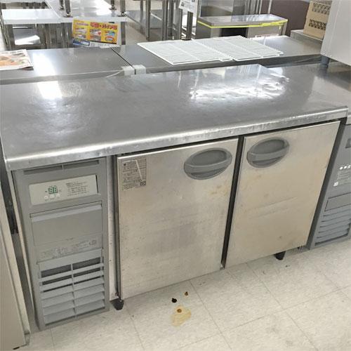 【中古】センターピラーレス冷蔵コールドテーブル 福島工業(フクシマ) YRC-120RM-F 幅1200×奥行600×高さ850 【送料別途見積】【業務用】