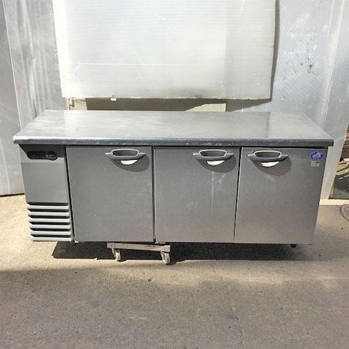 【中古】冷蔵コールドテーブル サンヨー SUR-G1861SA 幅1800×奥行600×高さ800 【送料別途見積】【業務用】【厨房機器】