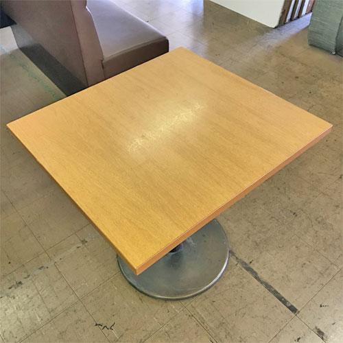 【中古】テーブル(メラミン天板) 幅700×奥行750×高さ700 【送料無料】【業務用】
