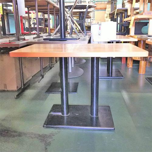 【中古】テーブル ナチュラル 伝票入れ付き 幅1050×奥行650×高さ720 【送料別途見積】【業務用】