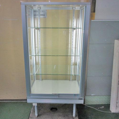 【中古】ガラス非冷ショーケース 日本アルミ 幅600×奥行450×高さ1230 【送料別途見積】【業務用】【厨房機器】