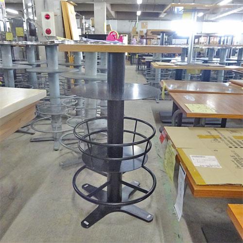 【中古】角カウンターテーブル 天板薄茶 板厚 幅550×奥行550×高さ1035 【送料別途見積】【業務用】