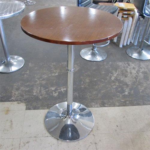 【中古】木製丸ハイテーブル 幅600×高さ910 【送料無料】【業務用】