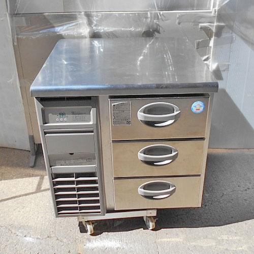 【中古】冷凍ドロワーコールドテーブル 福島工業(フクシマ) YDW-083FM2 幅750×奥行750×高さ770 【送料別途見積】【業務用】