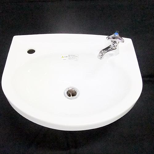 【中古】手洗い器 (シャボン・パイプ・栓なし) 幅410×奥行325×高さ230 【送料別途見積】【業務用】