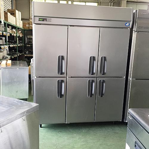 【中古】6ドア冷凍庫 サンヨー SRF-J1563V-3 幅1450×奥行650×高さ1910 三相200V 【送料別途見積】【業務用】