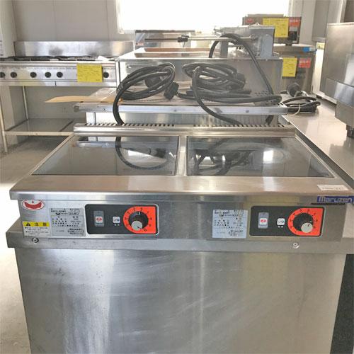 【中古】IH調理器 マルゼン MIH-2H2HC 幅600×奥行450×高さ120 【送料別途見積】【業務用】