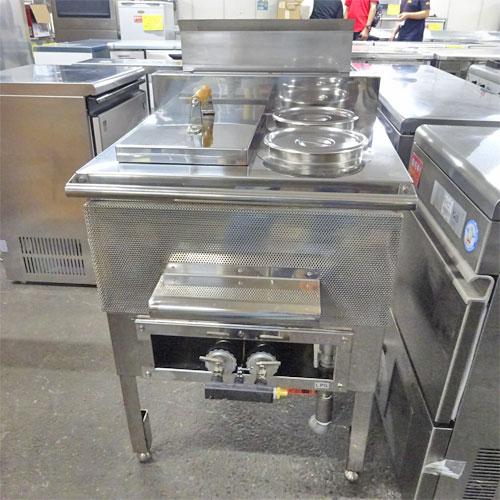 【中古】湯沸き槽つき湯煎機 マルゼン MGY-066C(改) 幅600×奥行600×高さ800 LPG(プロパンガス) 【送料別途見積】【業務用】