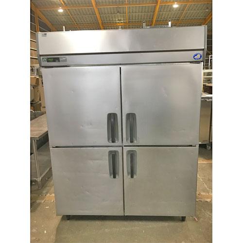 【中古】縦型冷凍庫 サンヨー SRF-J1583VS 幅1500×奥行800×高さ1900 三相200V 【送料無料】【業務用】