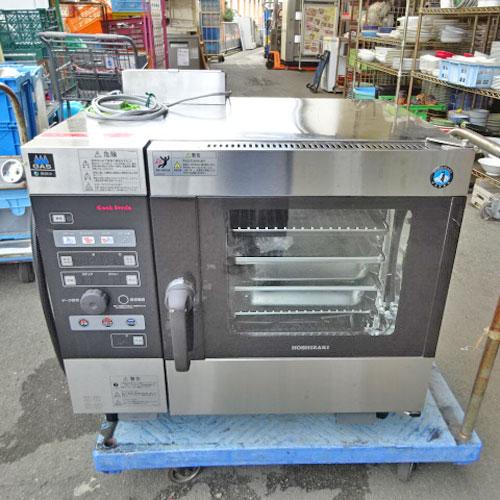 【中古】スチームコンベクションオーブン ホシザキ MIC-5TB3-GA 幅750×奥行560×高さ685 都市ガス 【送料別途見積】【業務用】