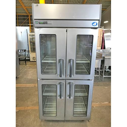 【中古】縦型冷蔵庫 サンヨー SRR-J981VS 幅900×奥行800×高さ1950 【送料無料】【業務用】