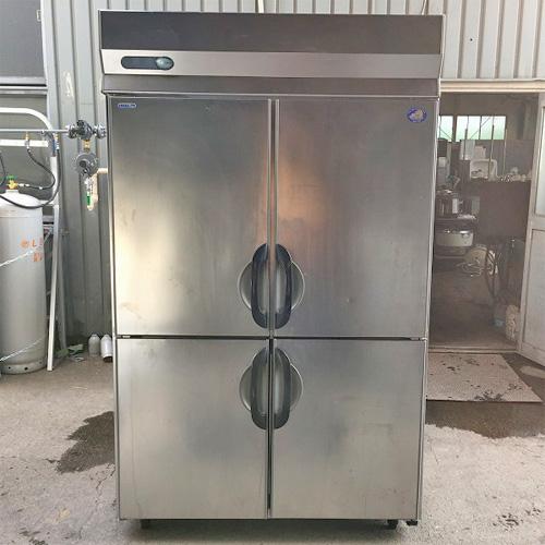【中古】縦型4ドア冷凍冷蔵庫 サンヨー SSR-G1283CS 幅1200×奥行800×高さ2000 三相200V 【送料無料】【業務用】